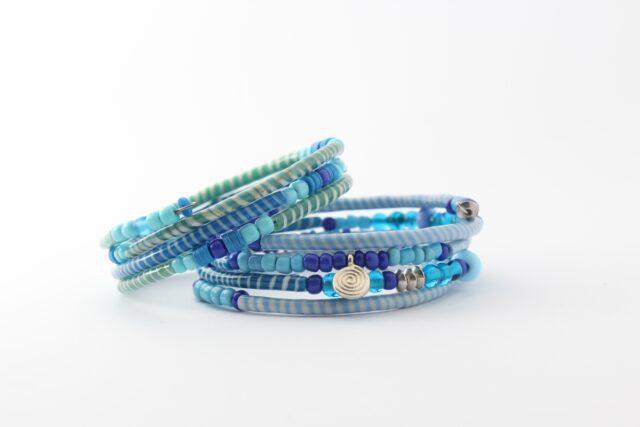 Armband - Recycling Flip-Flops - blau - viele