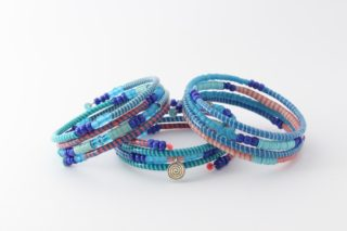 Armband - Recycling Flip-Flops - blaurosa - viele