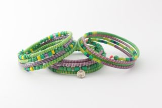 Armband - Recycling Flip-Flops - gruen - viele