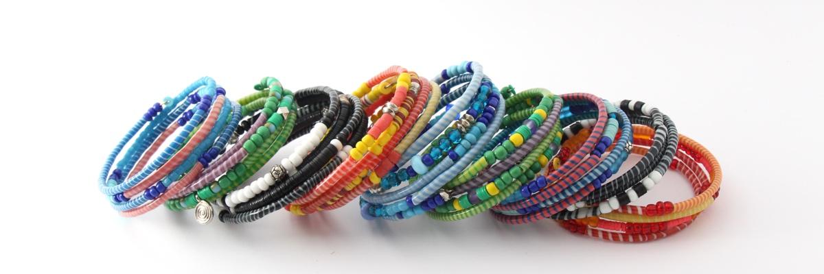 Armband - Recycling Flip-Flops - viele