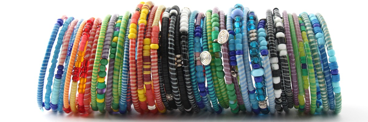 Armband - Recycling Flip-Flops - viele - Rolle