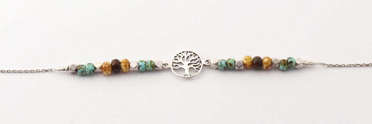 Kette - Zarte Colliers - Baum des Lebens - front